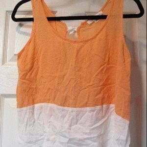 Forever 21 Orange and White Bow Tie Tank